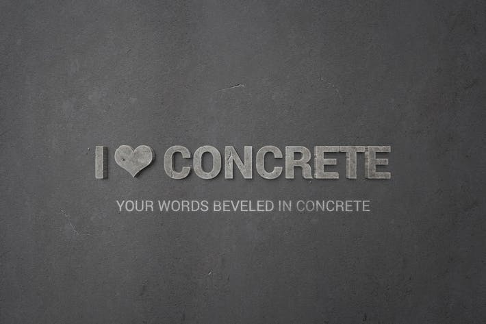 Thumbnail for I ♥ Concrete — Estilos de Objeto Inteligente para Photoshop