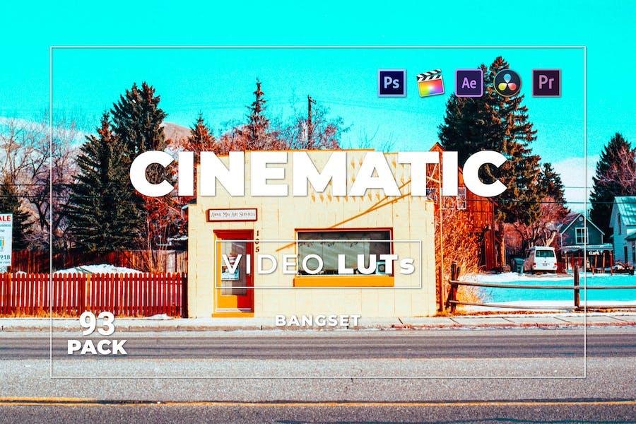 Bangset Cinematic Pack 93 Video LUTs
