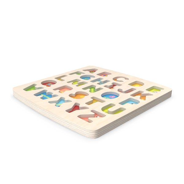 Деревянная тарелка ABC