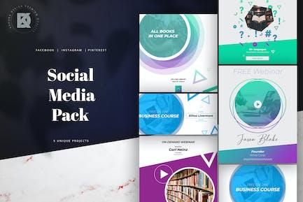 Online Course Webinar Social Media Banners Pack