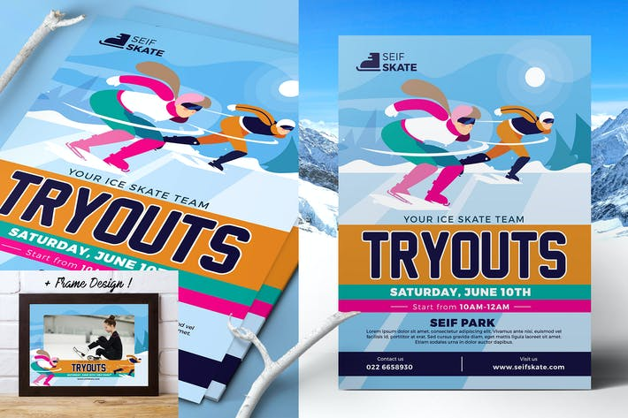 Thumbnail for Ice Skating Tryouts Flyer