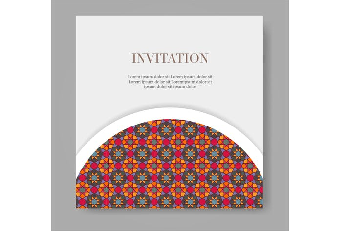 Cover Image For Islamic pattern ornament for wedding or eid card.