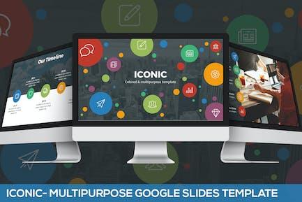 Iconic - Шаблон слайдов Google