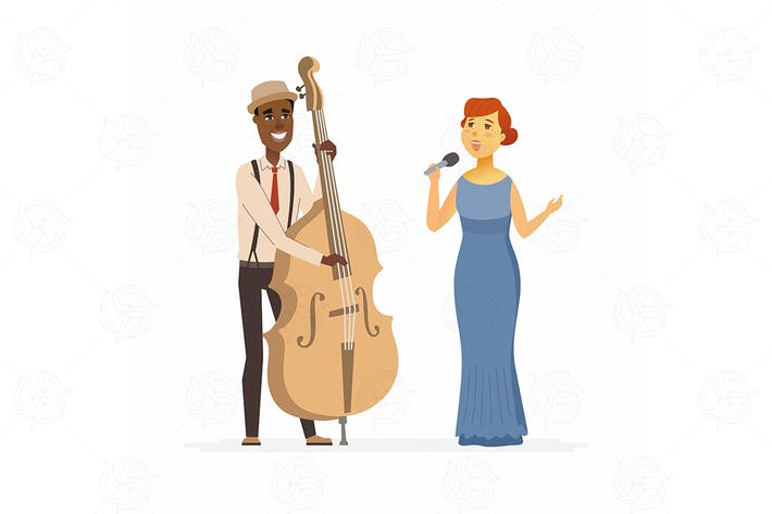 Thumbnail for Musicians - cartoon people characters illustration