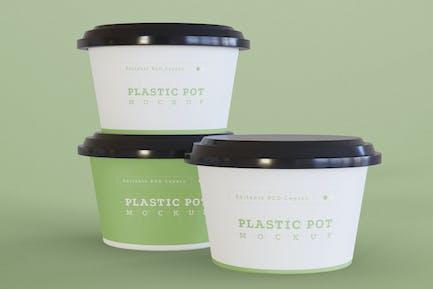 Plastic Pot Mockup