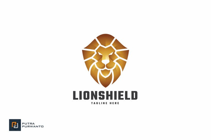 Thumbnail for Lion Shield - Logo Template