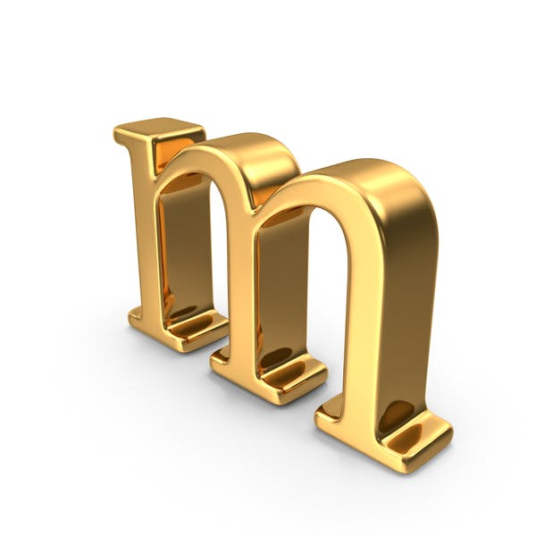 Thumbnail for Gold Small letter m