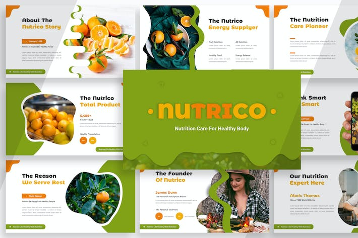 Thumbnail for Nutrico - Питание уход Powerpoint