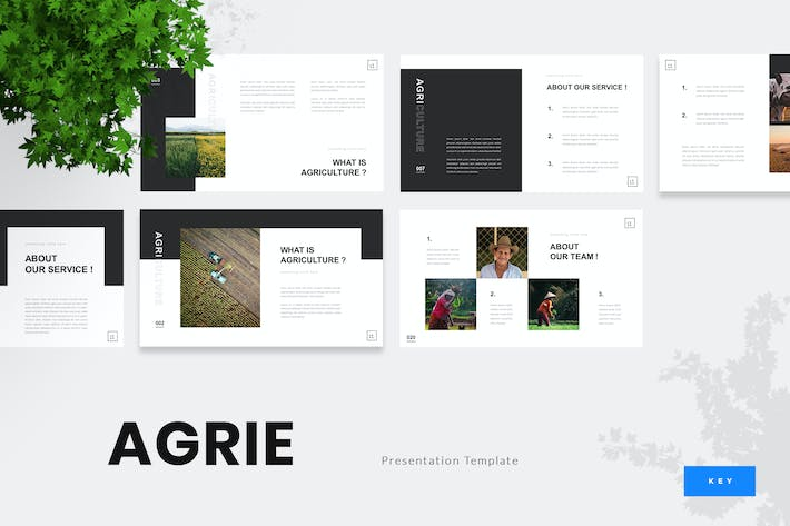 Thumbnail for Agrie - Agriculture Keynote Presentation Template