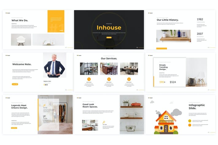 Thumbnail for Inhouse - Google Slides Template