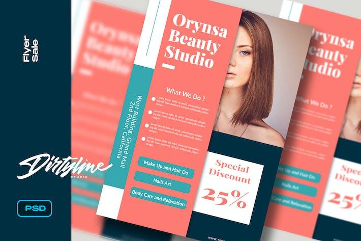 Modèle de dépliant Beauty Studio