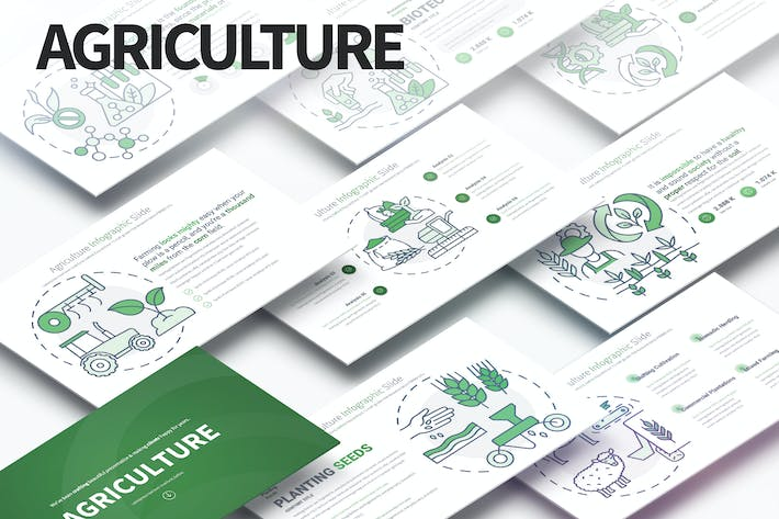 Thumbnail for Agriculture - PowerPoint Infographics Slides