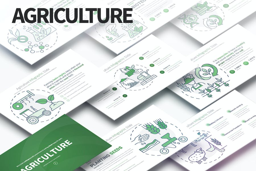Agriculture - PowerPoint Infographics Slides