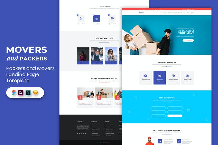 Packers and Movers - Landing Page Template
