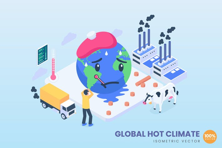 Thumbnail for Isometric Global Hot Climate Concept
