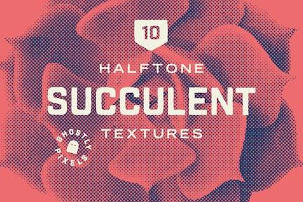 Halftone Vector Succulents