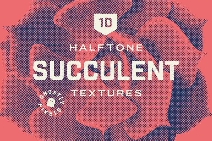 Thumbnail for Halftone Vector Succulents