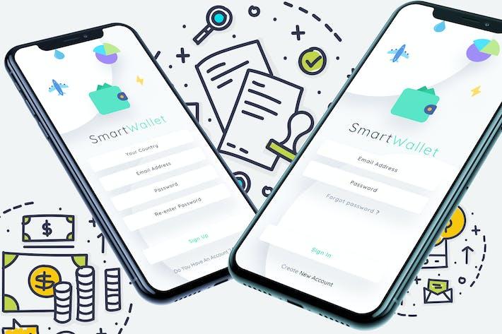 Thumbnail for Smart Wallet SignIn SignUp Mobile Ui