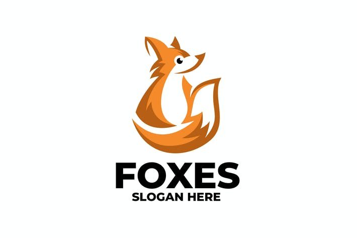 Thumbnail for fox cute logo template
