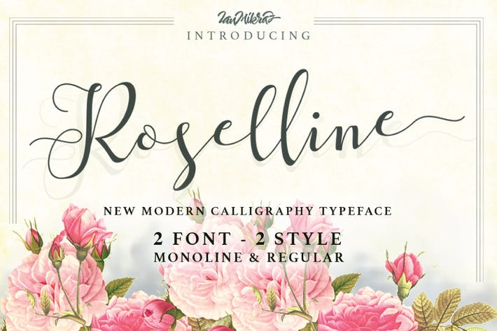 Cover Image For Roselline Typeface