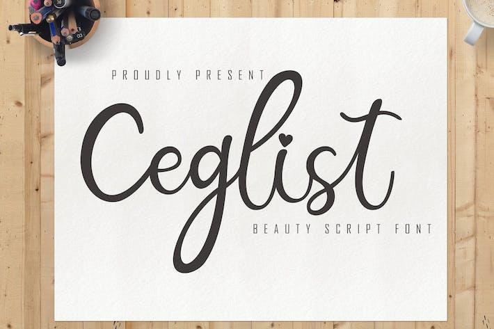 Thumbnail for Ceglist Beauty Script Font