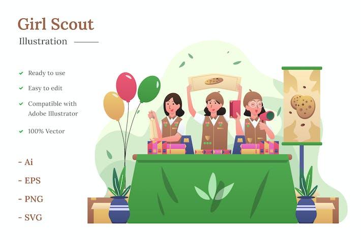 Thumbnail for Girl Scout Illustration