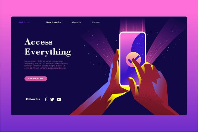 Access Everything - Banner & Landing Page