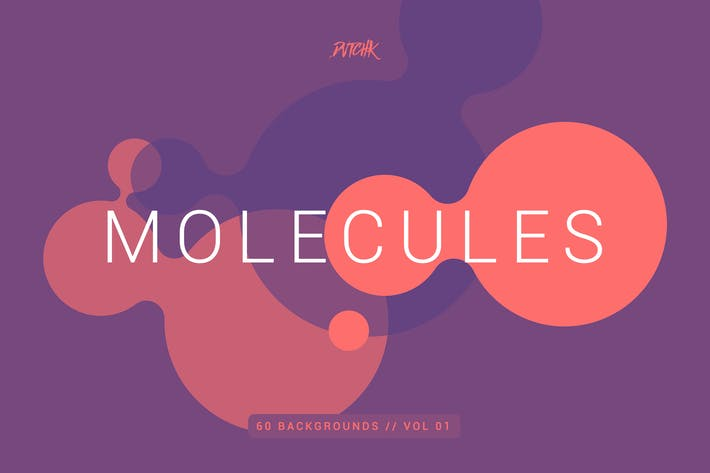Thumbnail for Molecules | Flat Backgrounds | Vol. 01
