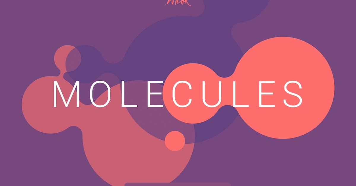 Molecules   Flat Backgrounds   Vol. 01 by devotchkah