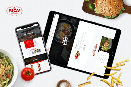 Rica Plus - A Delicious Restaurant, Cafe & Pub PSD