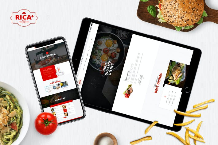 Thumbnail for Rica Plus - A Delicious Restaurant, Cafe & Pub PSD