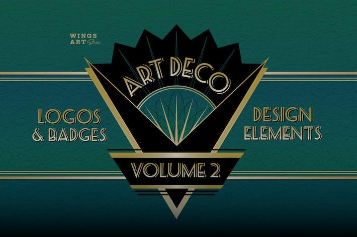Thumbnail for Retro Art Deco Logo Sammlung Band Zwei