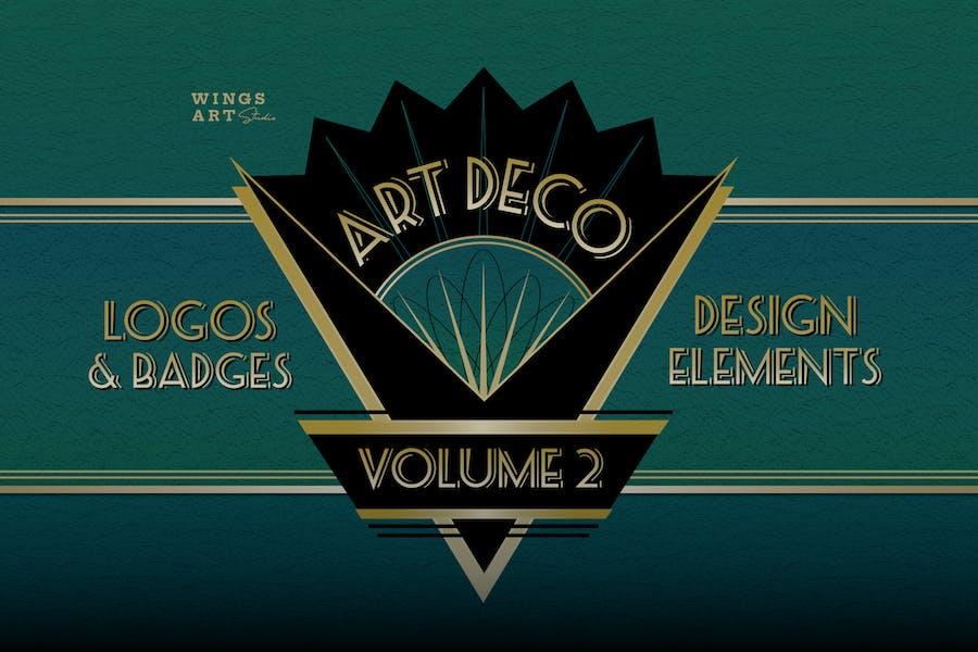 Retro Art Deco Logo Collection Volume Two