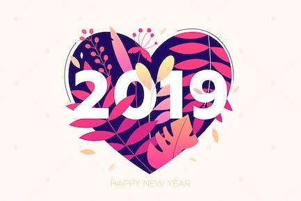 Happy New Year - flat design style illustration