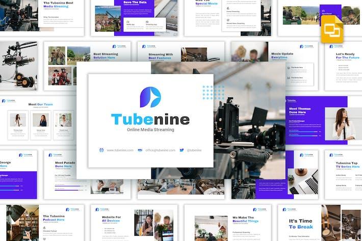 Thumbnail for Tubenine - Media-Streaming Google Folien Vorlage