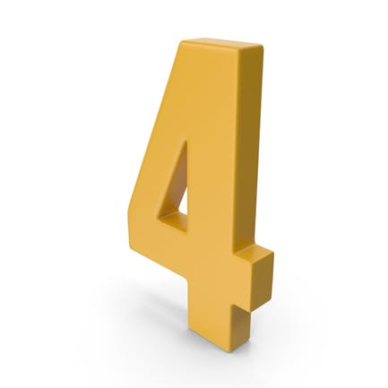4 Number Yellow