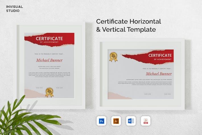 Certificate Vertical & Horizontal