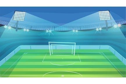 Fußballplatz - Illustrations-Hintergrund