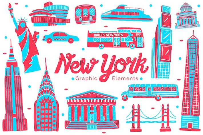 Thumbnail for New York Landmark Graphic Elements