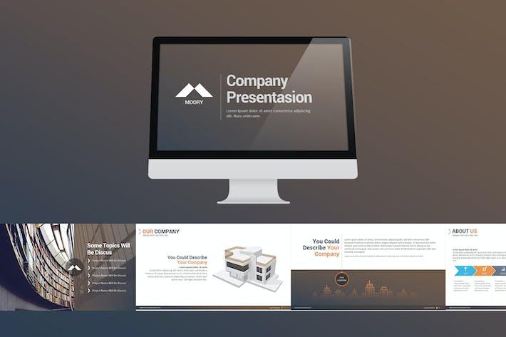 Thumbnail for Moory Company Powerpoint Presentation