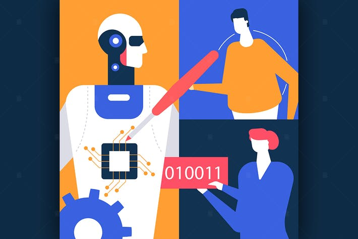 Thumbnail for Artificial intelligence - flat illustration