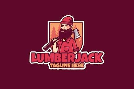 Lumberjack Logo With Beard