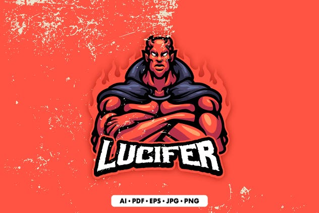 Lucifer Mascot Logo