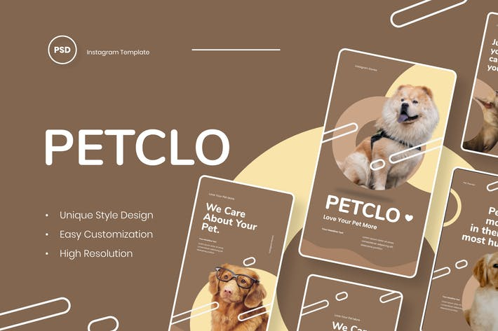 Thumbnail for Petclo - Pet Animal Instagram Stories Template