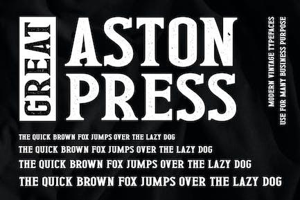 Great Aston Press Advertisement Font