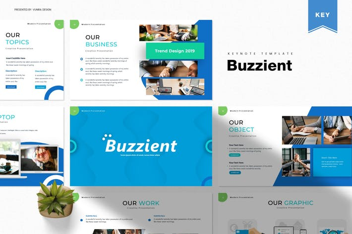 Cover Image For Buzzient | Шаблон Keynote