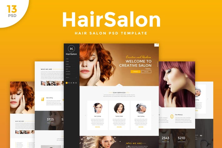 Thumbnail for Hair Salon - Elegant PSD Template