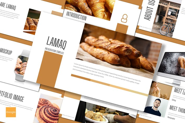 Thumbnail for Lamaq - Пекарня Google Слайды Шаблон