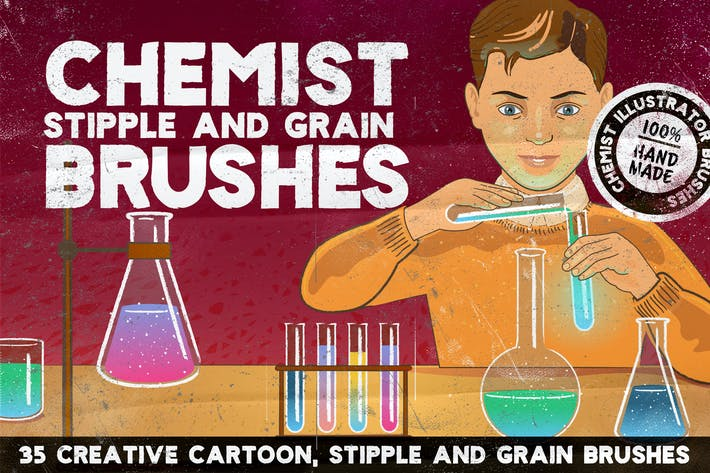 Thumbnail for CHEMIST Illustrator Brushes