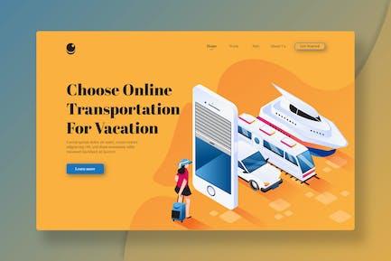Wählen Sie Online-Transporte für den Urlaub